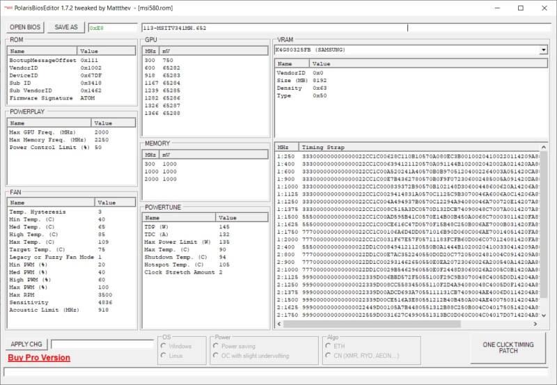 Polaris BIOS Editor 1.6.7 & 1.7.2