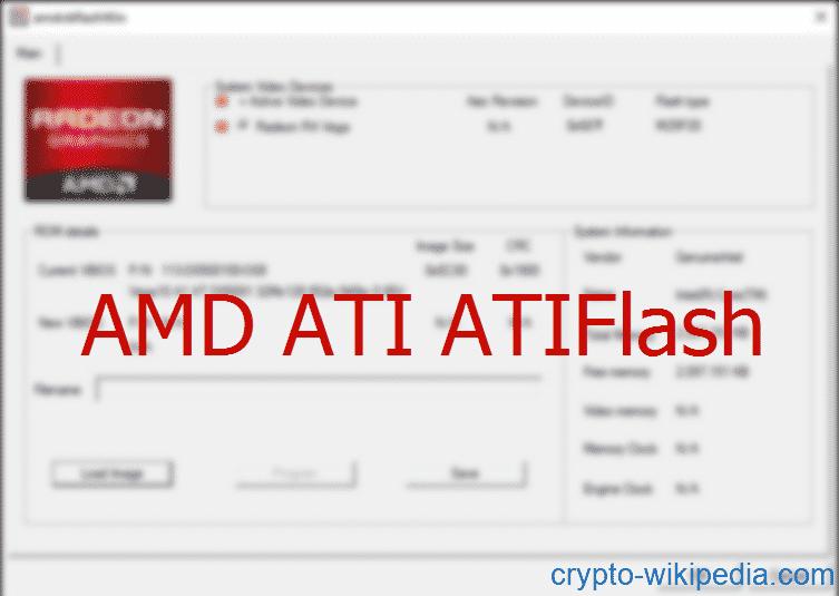 AMD ATI ATIFlash- tool for flashing BIOS