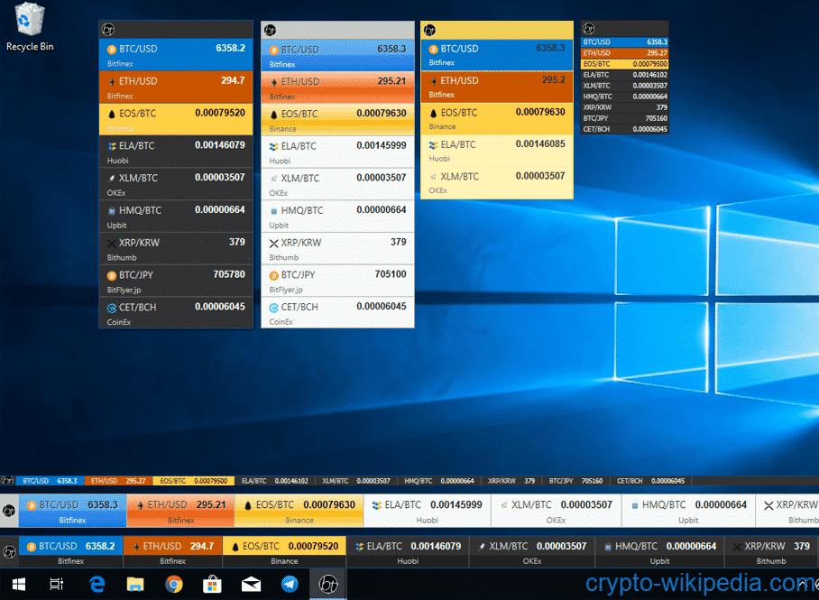 bitcoin windows widget